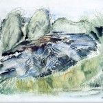White Mountain Country The Rapids John Marin Painting
