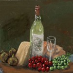 White Wine Paintings Realism Acrylic Canvas Food Regional Still Life