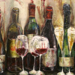 Winchester Hampshire Celebration Wine Painting For Lovers
