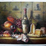 Wine Bottle Oil Painting China