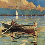 Winslow Homer Gloucester Harbor Art Painting Off