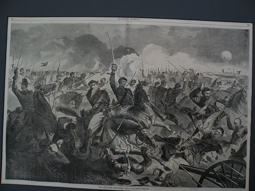 Winslow Homer Wood Engraving Print Civil War Subject