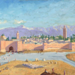 Winston Churchill The Tower Katoubia Mosque Painting For Sale