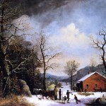 Winter Scene Oil Painting Reproduction Wholesale