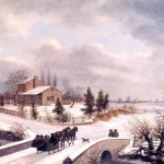 Winter Scene Thomas Birch Oil Painting Reproduction Art
