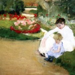 Woman And Seated Garden Mary Cassatt Wikipaintings