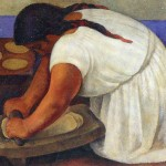Woman Grinding Maize Diego Rivera Wikipaintings