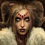 Women Fantasy Paintings Horns Faces Best Wallls