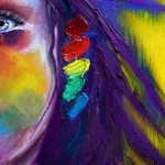 Women Paintings Colorful Blue