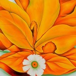 Yellow Hickory Leaves Daisy Georgia Keeffe Famous Painting