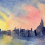 Yellow Watercolor Painting Nyc Fine Art Prints And Posters For Sale