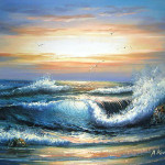 Yessy Art Original Oil Paintings Ocean Waves