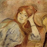 Young Girl Leaning Her Elbow Berthe Morisot Wikipaintings