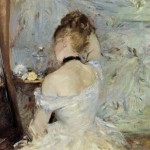 Young Woman The Mirror Berthe Morisot Oil Painting Reproduction