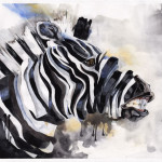 Zebra Painting Abstract Style Creative Universe