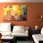 Abstract Art Canvas Print Kingdom Home Setting