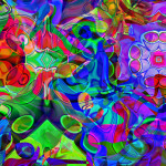 Abstract Art Flowers