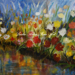 Abstract Art Flowers Paintings