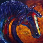 Abstract Colorful Horse Painting Navajo Expressions Jennifer