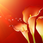Abstract Flowers Design