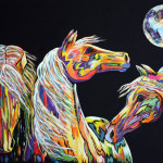 Abstract Horse Painting Equine Art Contemporary Colorado Artist
