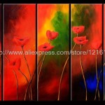 Abstract Landscape Wall Home Decor Oil Painting Canvas Pcs Set