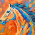 Affordable Contemporary Colorful Horse Painting