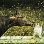 Art Horse Oil Painting Very Good Lively Animals