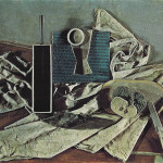 Art Print Pablo Picasso Still Life Dining Table Food Synthetic Cubism