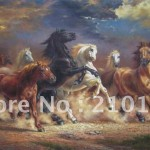Art Running Horses Handpainted Reproduction Oil Painting Canvas