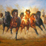 Beautiful Animal Painting Oil Canvas Horse
