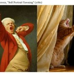 Cats Poses Similar Identical Humans Classic Paintings