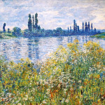 Claude Monet Paintings Flowers The Banks Seine Near Vetheuil Jpg