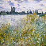 Claude Monet Paintings Isle Flowers Siene Near Vetheuil Jpg