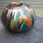 Colorful Horse Pro Gourd Art Freereinartstudio Etsy