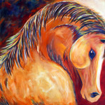 Contemporary Equine Painting Horse Art Colorado Artist Jennifer