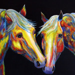 Contemporary Horse Painting Southwestern Equine Art Colorado