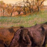 Edgar Degas Landscape Cows The Foreground Paintings