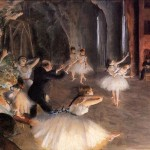 Edgar Degas Paintings The Rehearsal Stage Painting
