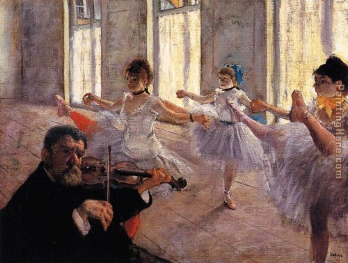 Edgar Degas Rehearsal Offer Framed Painting For Sale