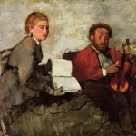 Edgar Degas Violinist And Young Woman Paintings