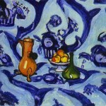Famous Art Work Drawing Henri Matisse Blue Table Cloth