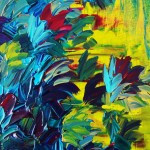 Floral Abstract Painting Free Shipping Flower Acrylic Art