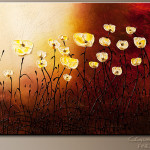 Floral Garden Abstract Art Painting Image