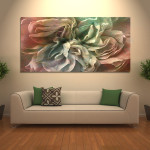 Flower Dance Abstract Art Large Canvas Print