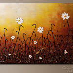 Flowers Abstract Painting Image White Copyright Www