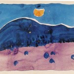 Georgia Keeffe Evening Watercolor Paper