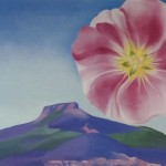 Georgia Keeffe Paintings Hollyhock Pink