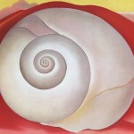 Georgia Keeffe Paintings White Shell Red