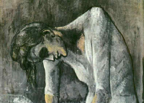 Hidden Painting Under Picasso Woman Ironing Revealed Detail